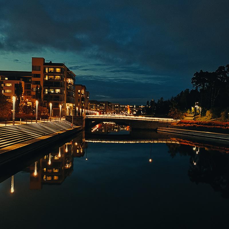 Vuosaari Canal by Night