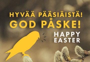 Happy Easter, God Påske & Hyvää Pääsiäistä!