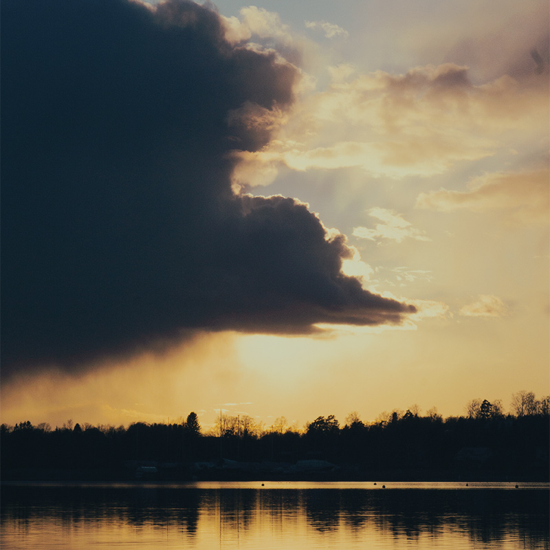 Clouds in Sunset Silhouette