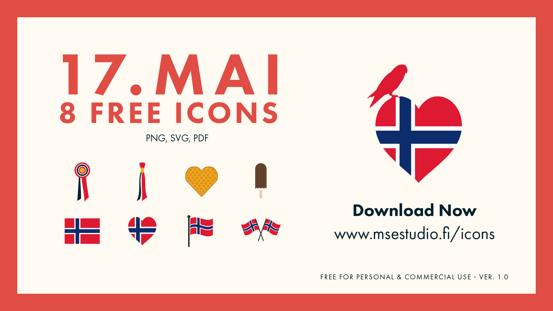 17.mai Icon Set - 8 Free Icons