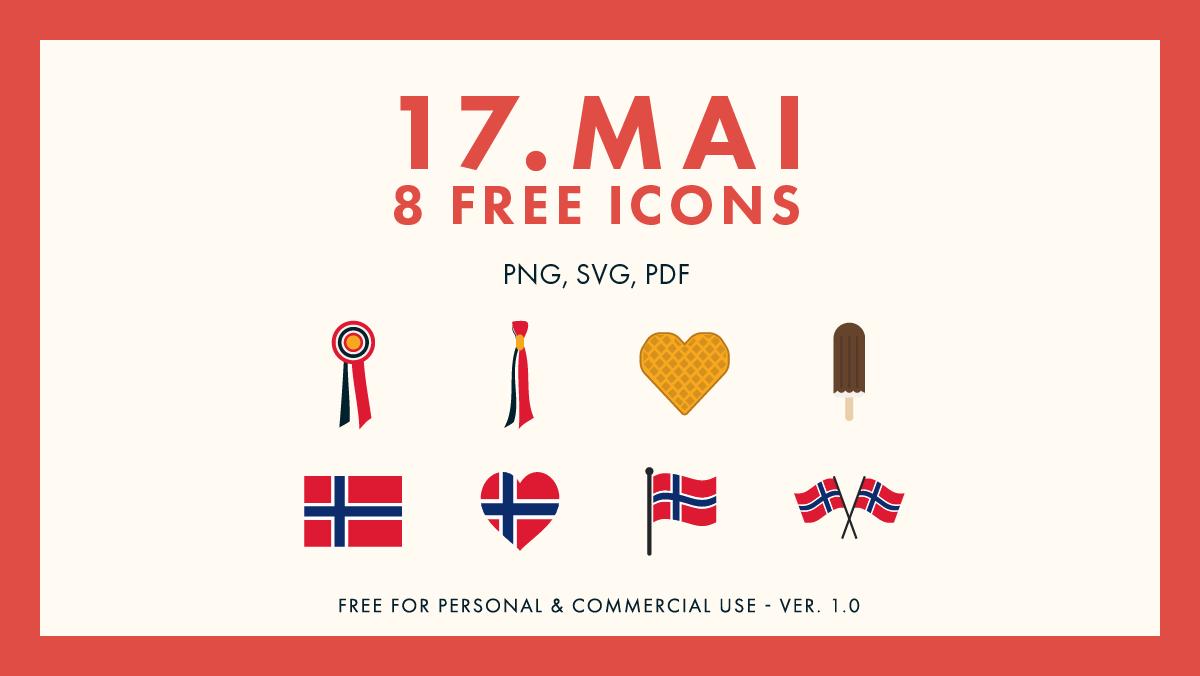17.mai Icon Set - 8 Free Icons